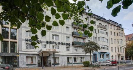Das TRIP INN Hotel Esplande in Düsseldorf von außen